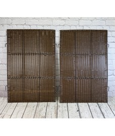 Pair of Side Panels For Double Rattan Wheelie Bin Screen